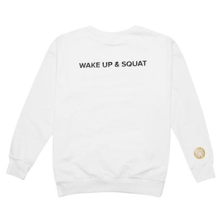 WAKE UP AND SQUAT ACTIVE - SWEATSHIRT WHITE