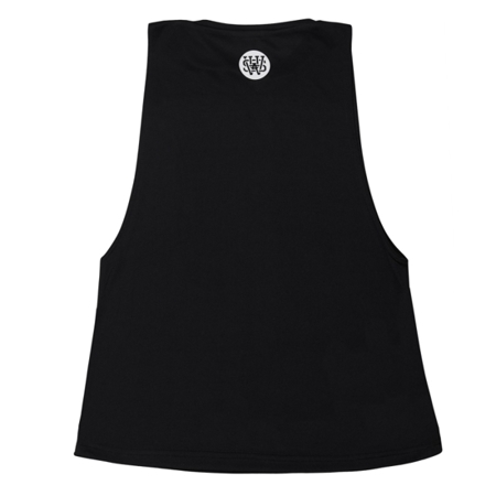 WAKE UP AND SQUAT - ACTIVE TANK TOP LONG (BLACK)