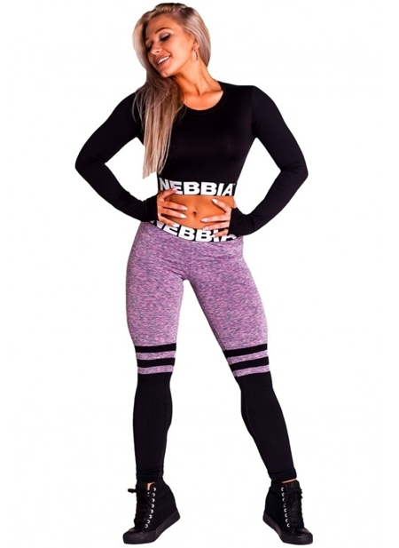 NEBBIA - Legginsy SOX MODEL N286 LILA (PUSH UP)