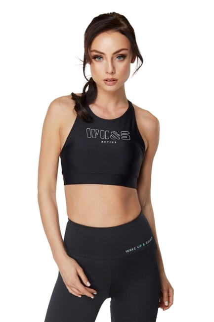 WAKE UP AND SQUAT ACTIVE - BRA TOP BLACK