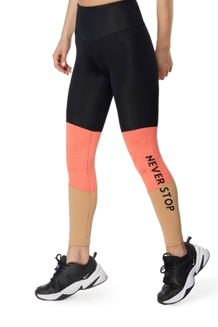 WAKE UP AND SQUAT - LEGGINSY NEVER STOP (beige)