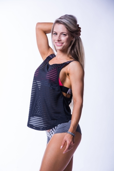 NEBBIA - Koszulka WRAP UP TANK MODEL N626 BLACK