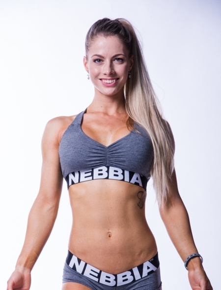 NEBBIA - TOP MELANGE MODEL N223 DARK GREY