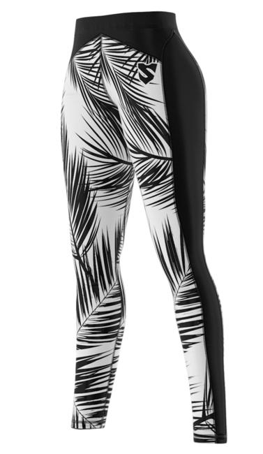 SMMASH - LEGGINSY L3 BLACK PALM (PUSH UP)