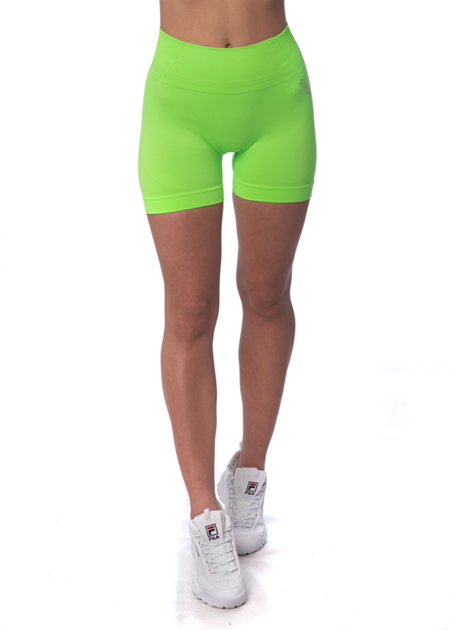 STRONG. - BEZSZWOWE, KRÓTKIE BIKERY NEON YELLOW-GREEN (PUSH UP)