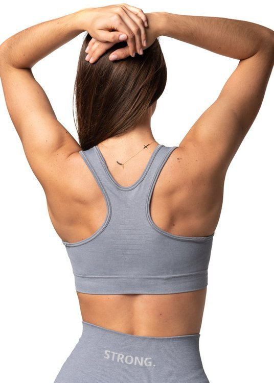 Strong. Bra Top. Light Grey.