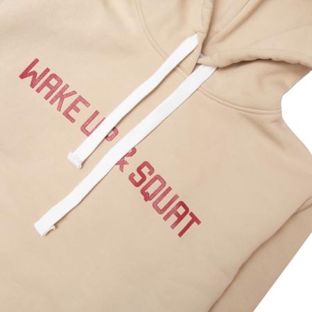 WAKE UP AND SQUAT - GIRLS HOODIE (beige)